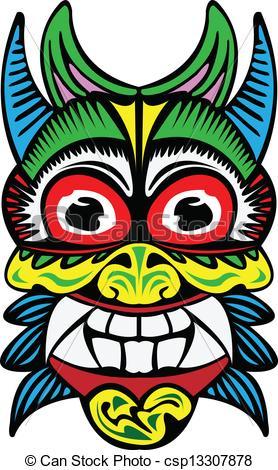 Vectors Illustration of Tibet mask..