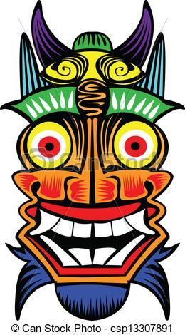 EPS Vectors of Tibet mask..