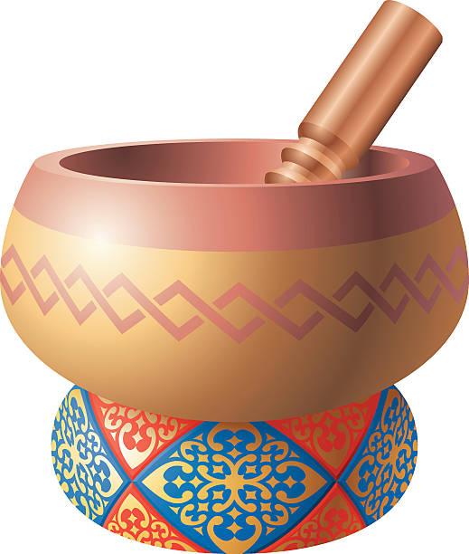 Tibetan Bowl Clip Art, Vector Images & Illustrations.