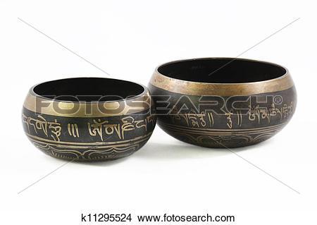 Stock Photo of Tibetan Bowl k11295524.