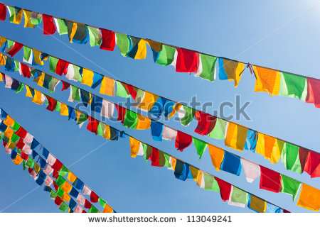 Prayer Flags Stock Images, Royalty.