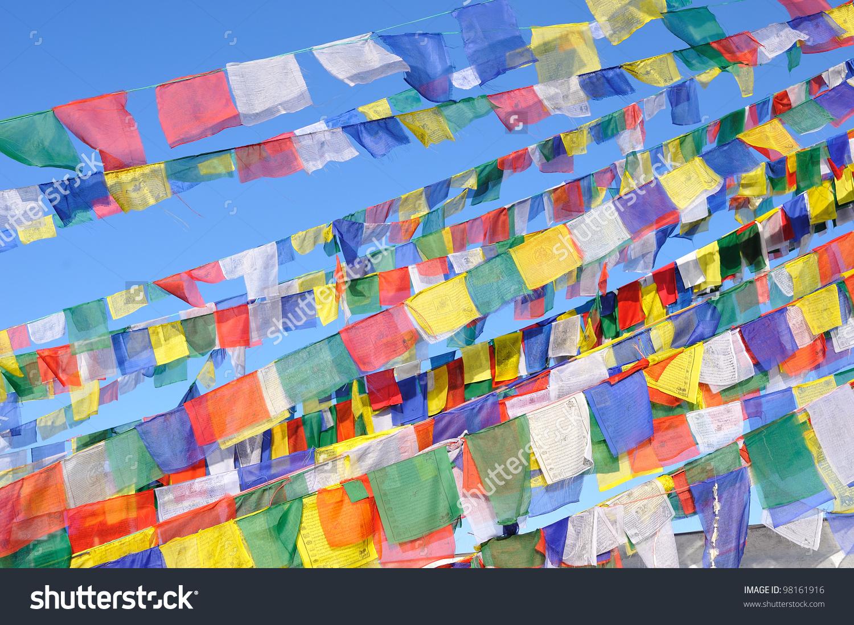 Tibetan Prayer Flagsnepal Stock Photo 98161916.