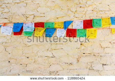 Buddhist Prayer Flag Stock Photos, Royalty.