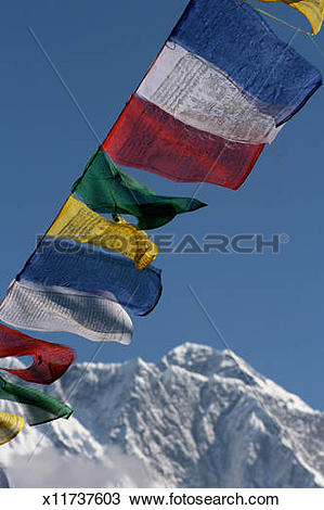 Stock Photo of Tibetan prayer flags x11737603.