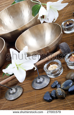 Tibetan Singing Bowl Stock Photos, Royalty.