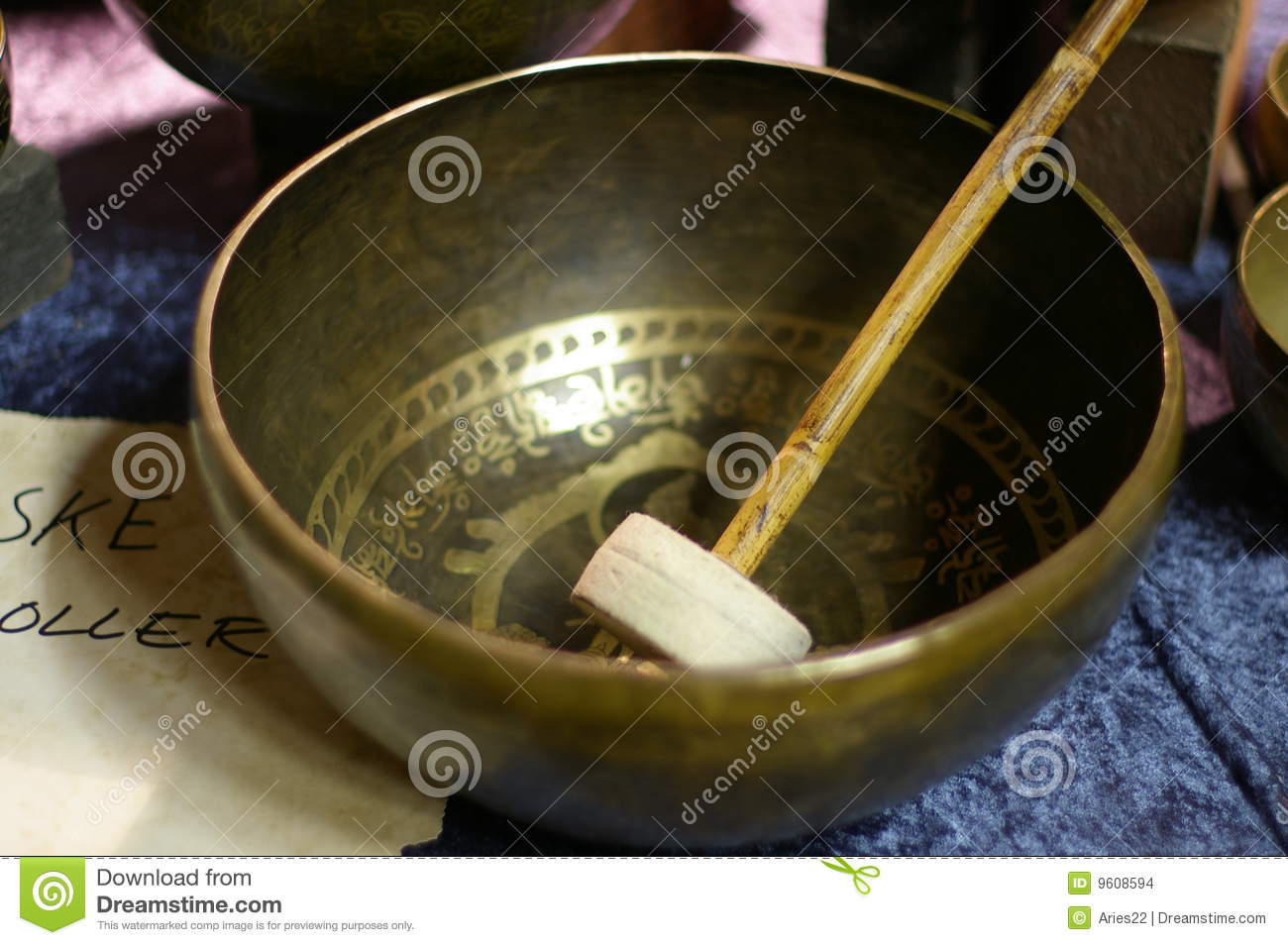 Tibetan Singing Bowl Stock Photos, Images, & Pictures.