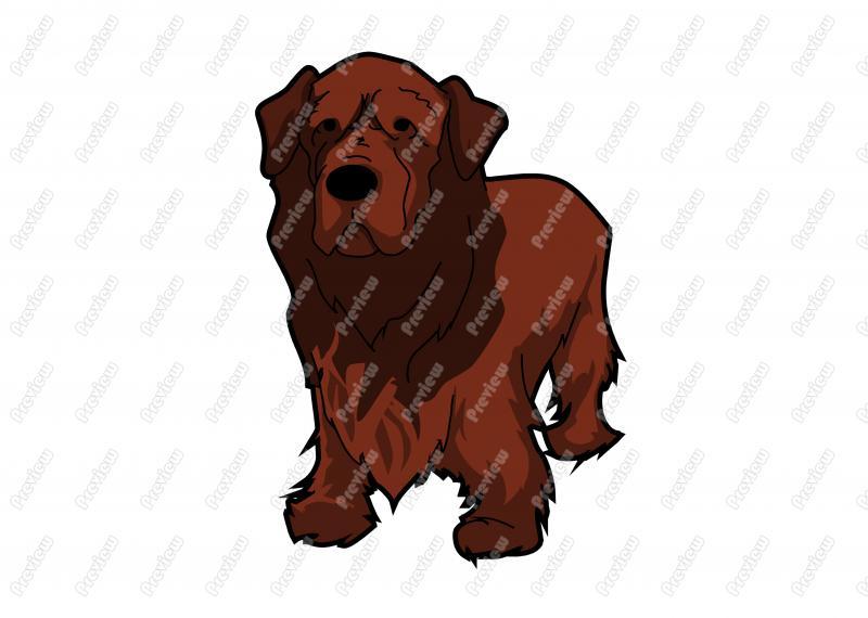 Friendly Tibetan Spaniel Dog Character Clip Art.