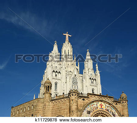 Pictures of Tibidabo church/temple, at the top of tibidabo hill.