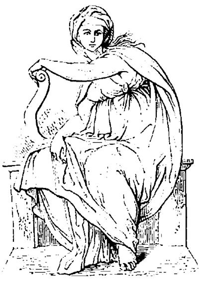 Delphic Sibyl By Michelangelo Clip Art Download.