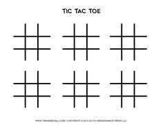 Tic Tac Toe Game Printables.