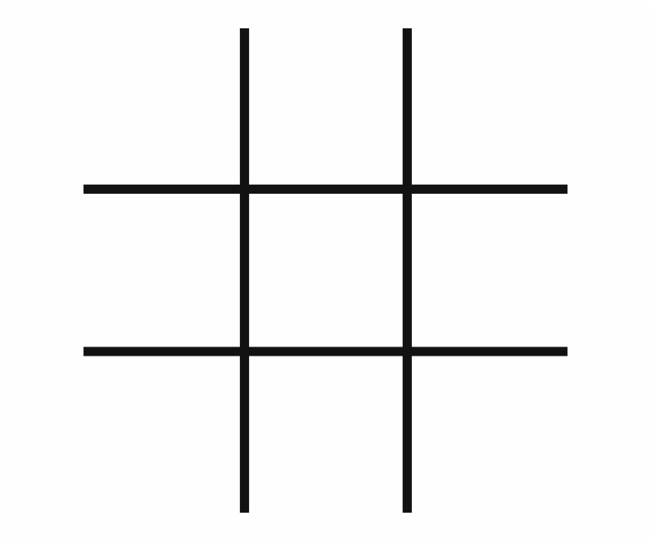 Tic Tac Toe Layout , Png Download.