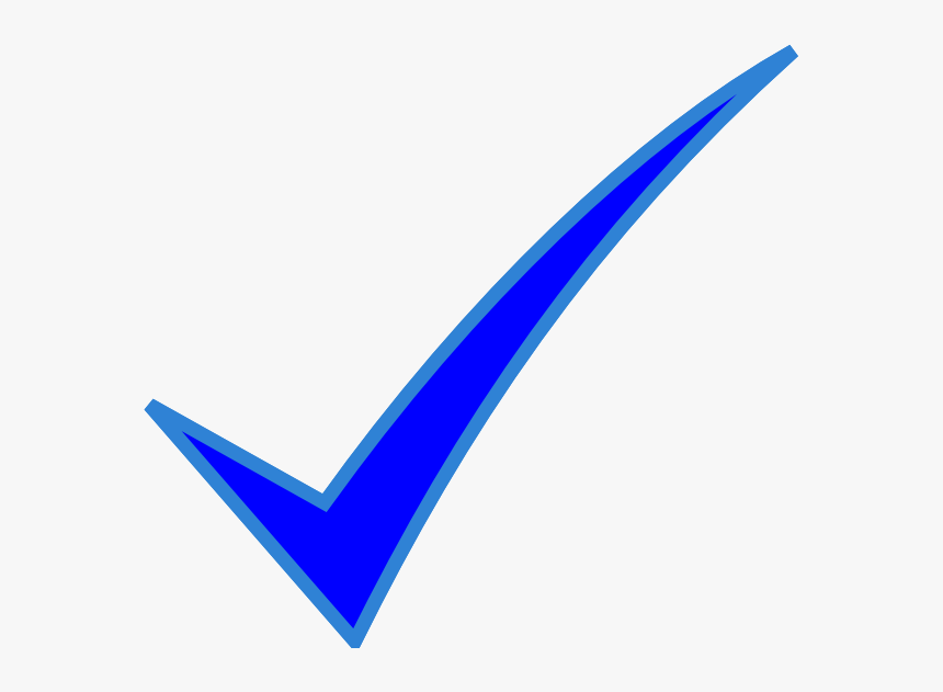 Blue Check Mark At Clker Vector Clipart.