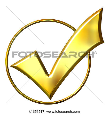 Stock Illustration of 3D Golden Ticked Circle k1351517.