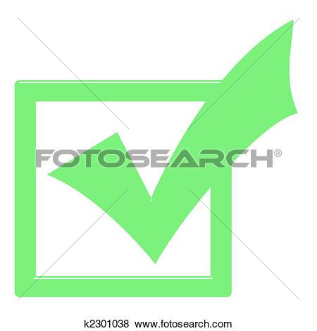 Stock Illustration of 3D Ticked Box k2301038.