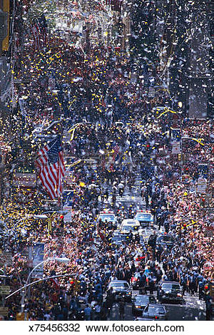 Stock Photo of Ticker Tape parade x75456332.