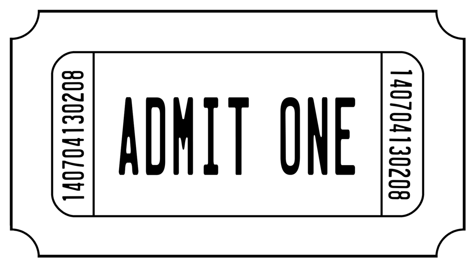 Free Movie Ticket Clipart Black And White, Download Free.