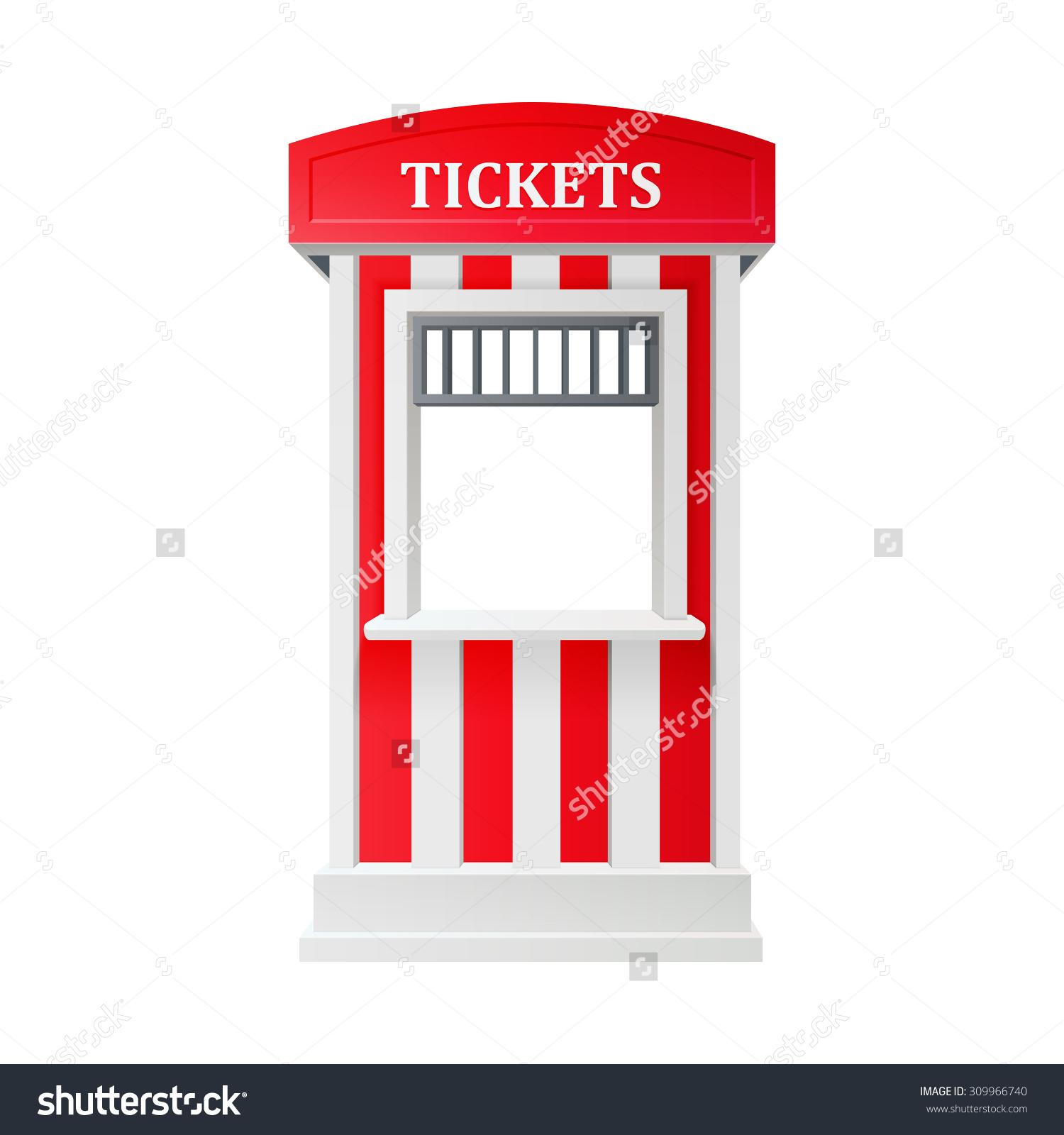 Fair ticket booth clipart.