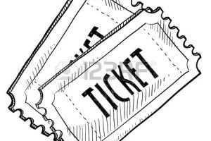 Raffle ticket clipart black and white 5 » Clipart Portal.