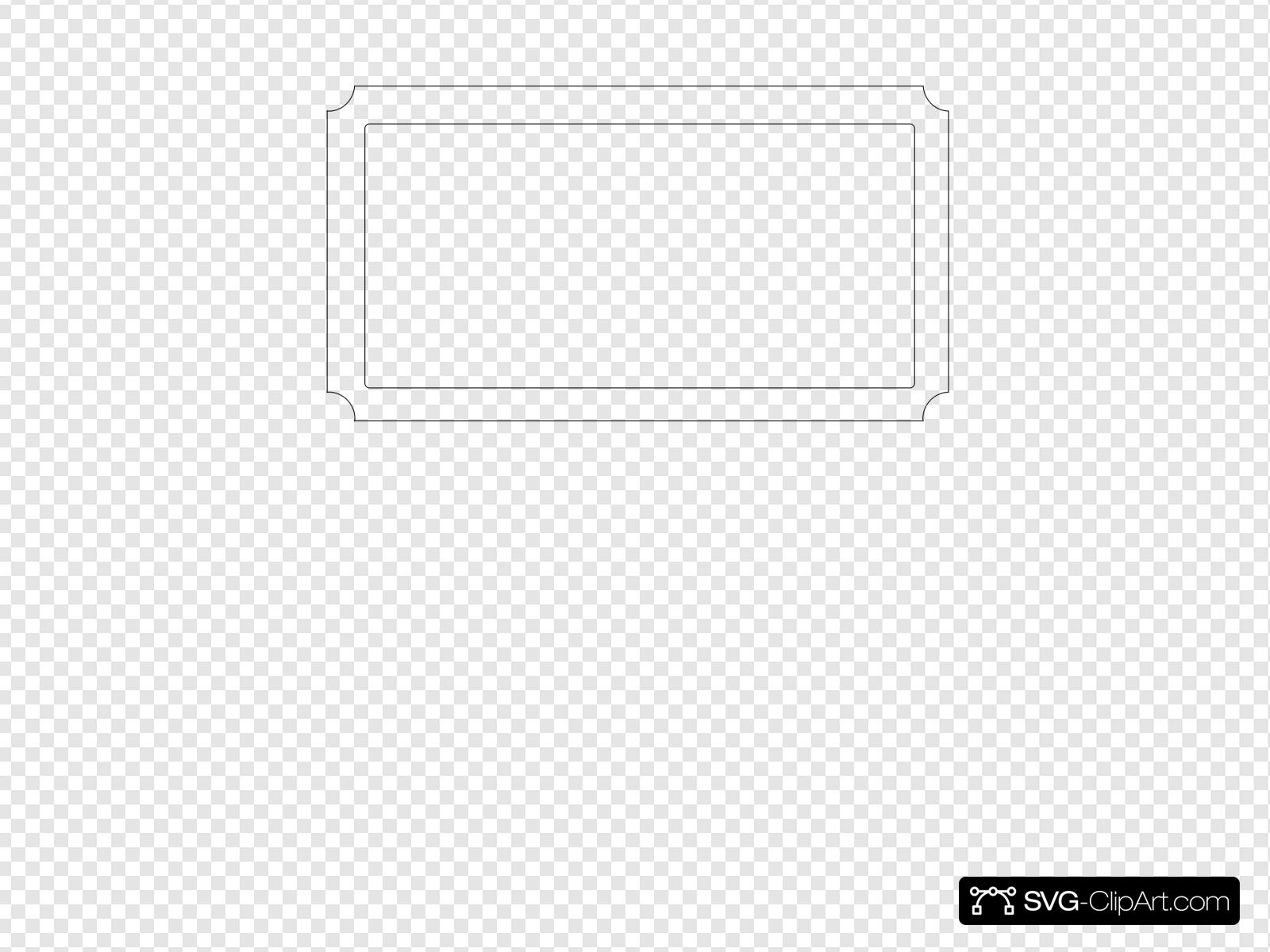 Blank Ticket Clip art, Icon and SVG.