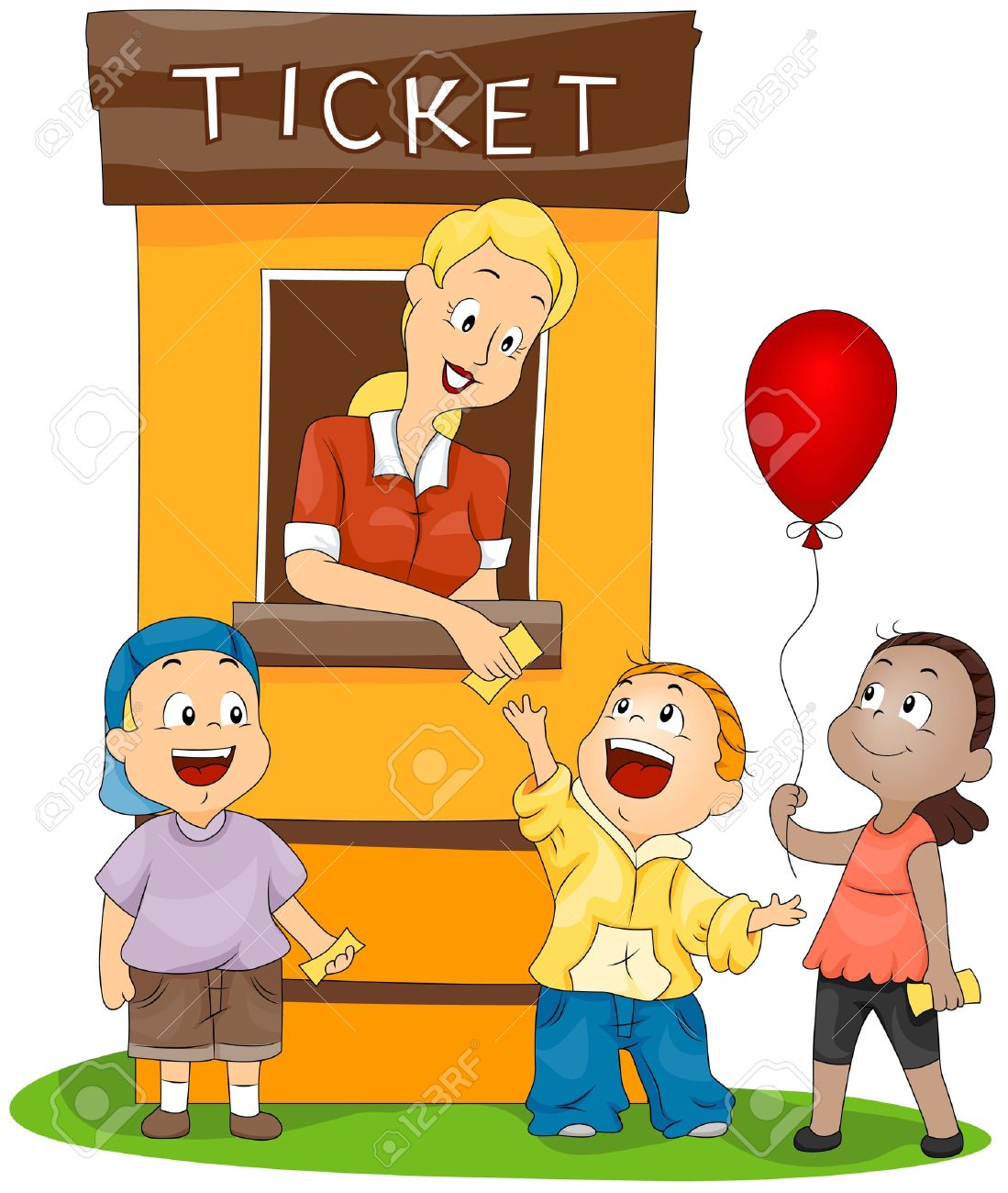 3178 Ticket free clipart.