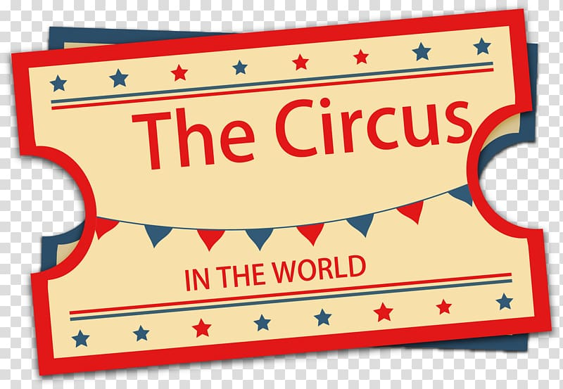 The Circus ticket, Ticket Circus Performance, Vintage circus.