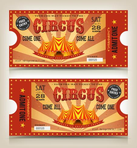 Vintage Circus Entry Tickets.