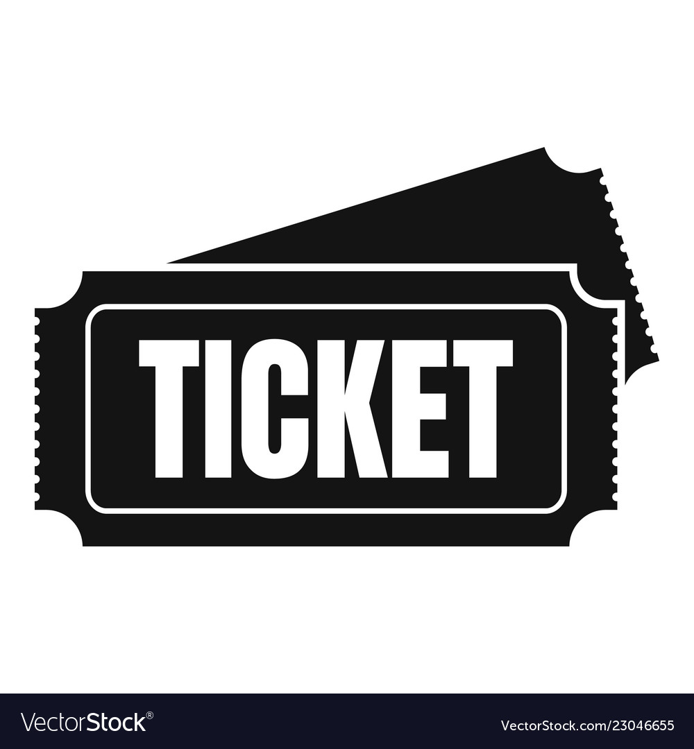 Museum ticket icon simple style.