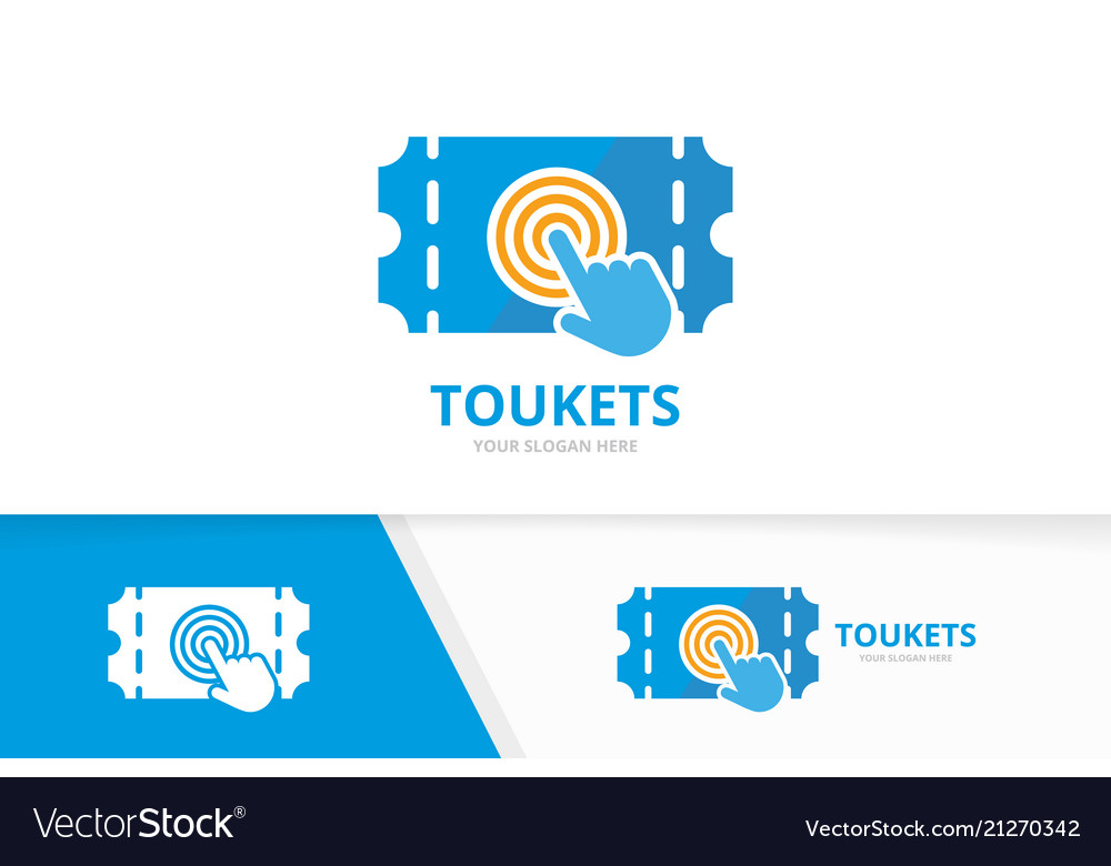 Ticket and click logo combination ducket.