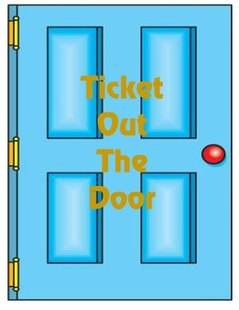 Ticket Out The Door Clipart.