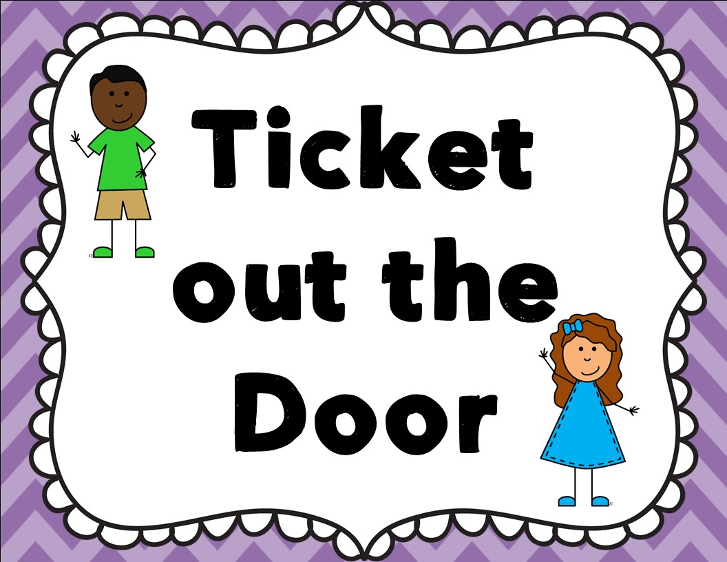 Exit ticket clipart.