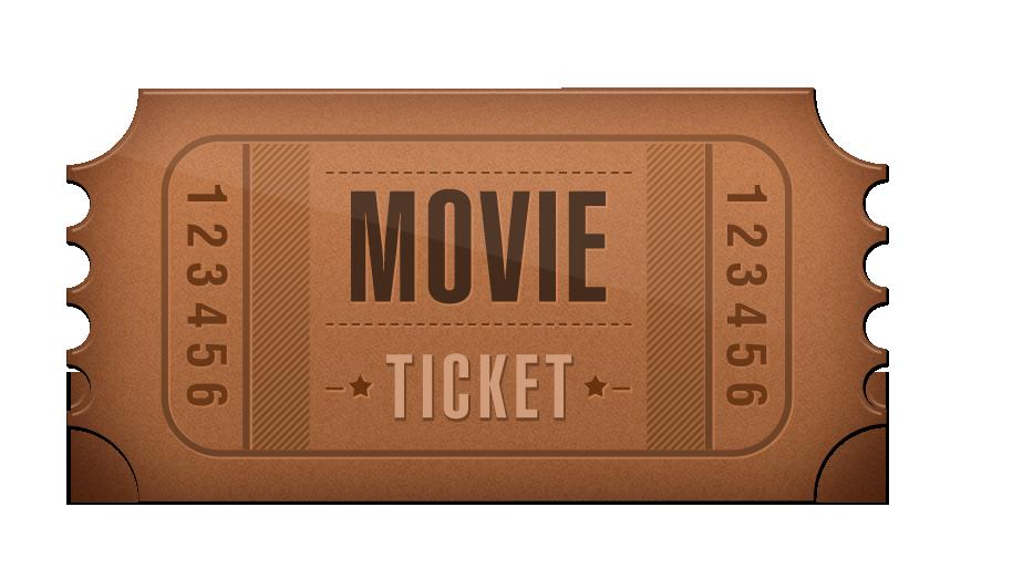 Ticket Cinema Film.