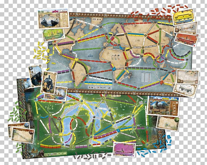Days Of Wonder Ticket To Ride Series Board Game PNG, Clipart.