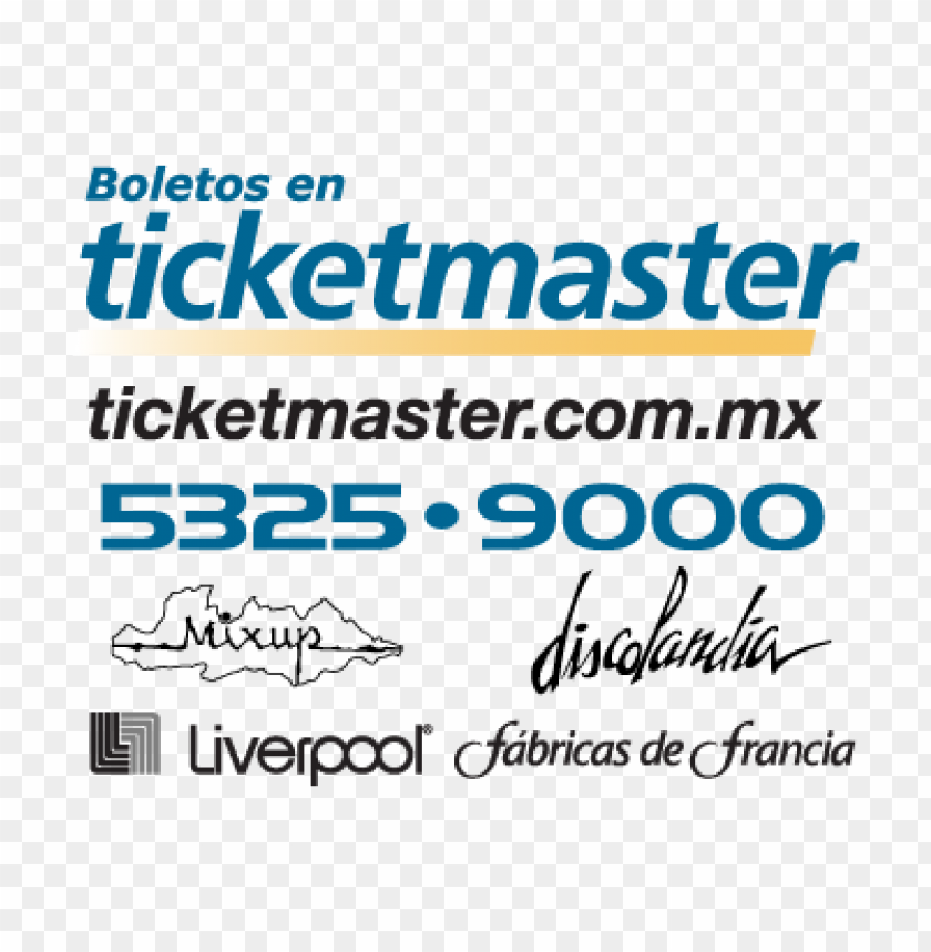 ticketmaster (.eps) vector logo free.