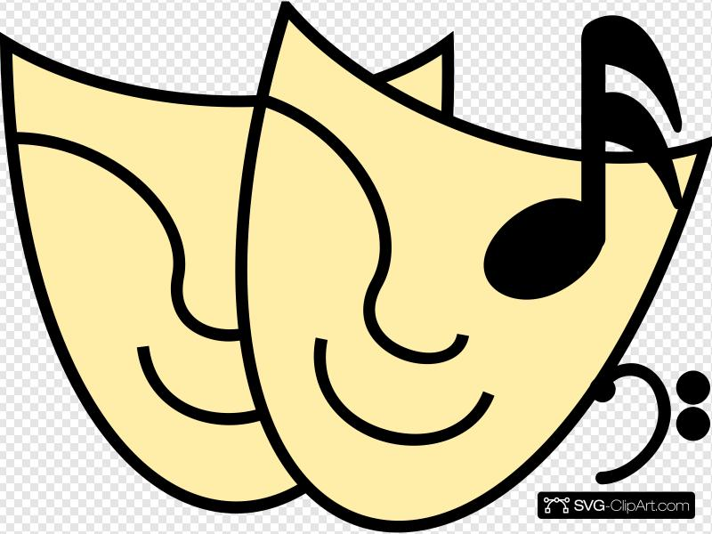 Free Music SVG Clipart and PNG icon.