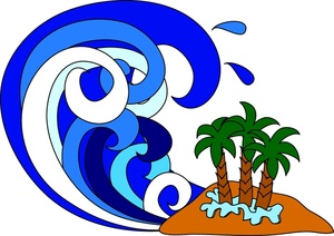 Clipart tidal wave.