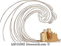Tidal wave Clipart and Stock Illustrations. 253 tidal wave vector.