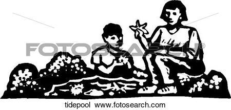 Clipart of Tide Pool tidepool.