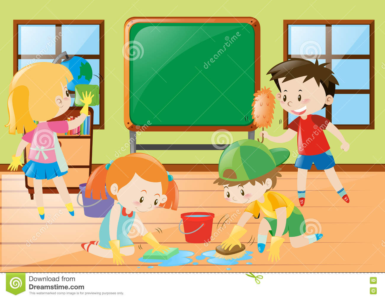 Cleaning the classroom clipart 1 » Clipart Station.