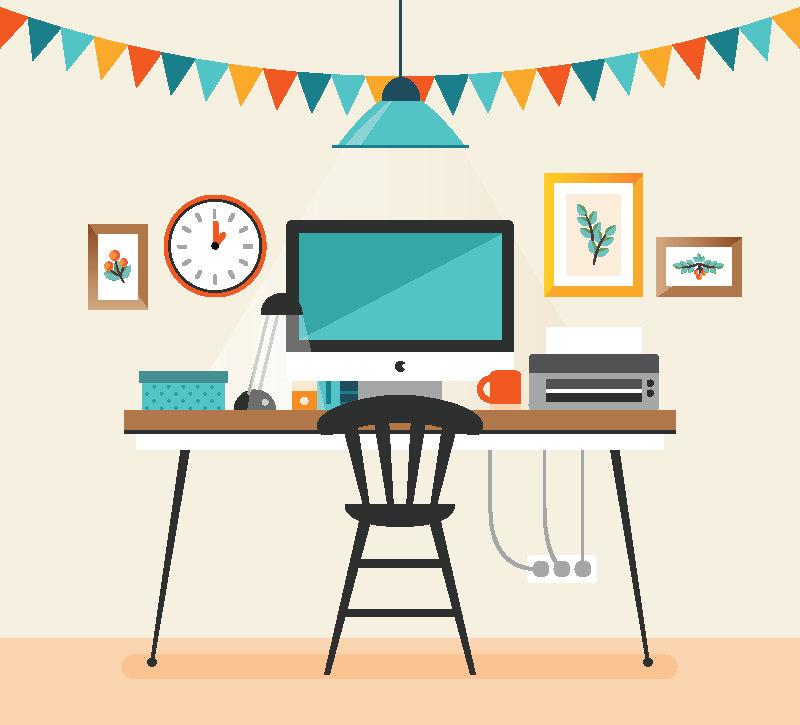 Clean Desk Clipart.
