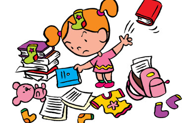 Cleaning Up Toys Clipart.