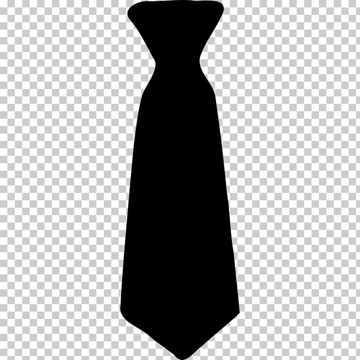 Necktie Bow tie Black tie , tie, black necktie illustration.
