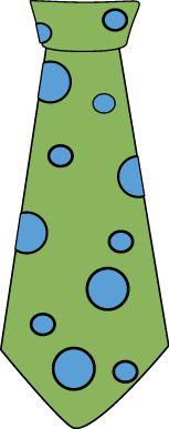 Polka Dot Tie Clip Art.