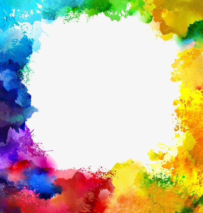 Colorful Ink Border Color Border PNG, Clipart, Border.