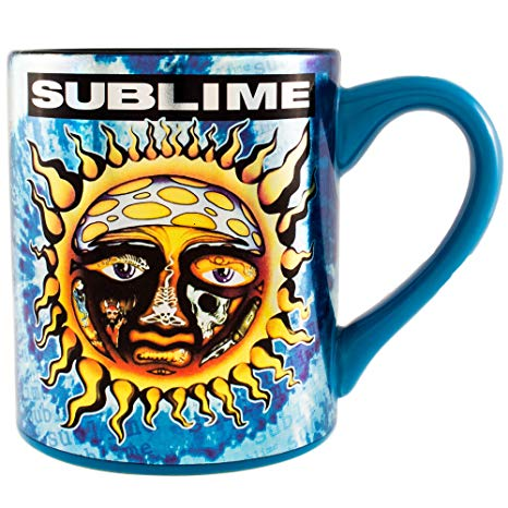 Silver Buffalo LM0032Z Live Nation Sublime Tie Dye Sun ceramic Mug, 14 oz,  Multicolor.