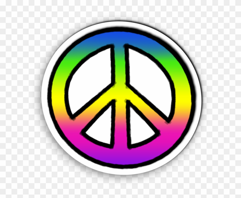 Tie Dye Peace Sign Sticker Clipart , Png Download.