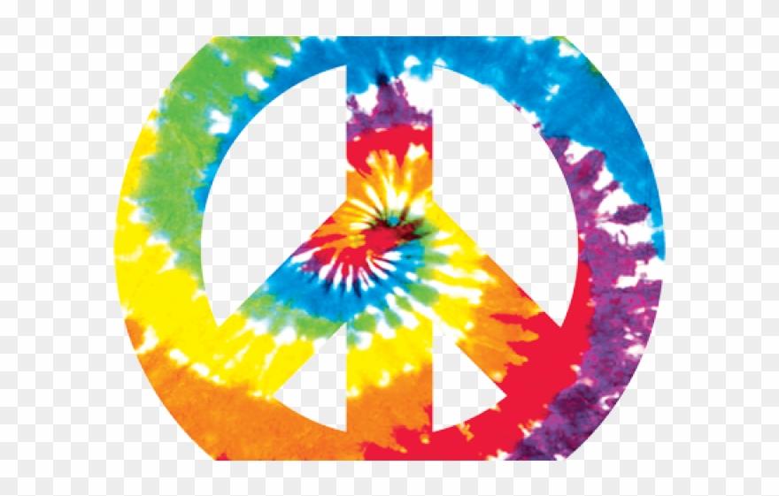 Peace Sign Clipart Tie Dye.