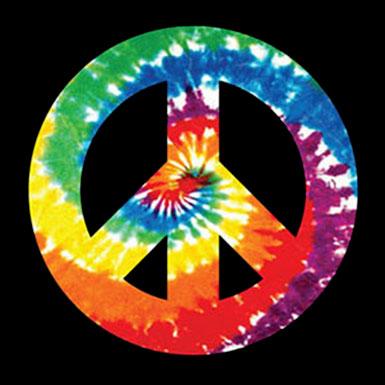 Tie Dye Peace Sign.