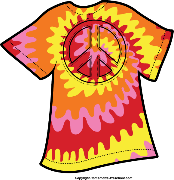 Tie Dye Shirt Clip Art Free free image.