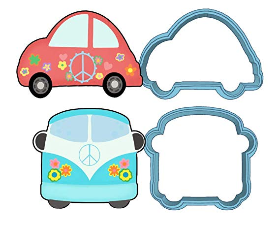Hippie Cookie Cutter Set.