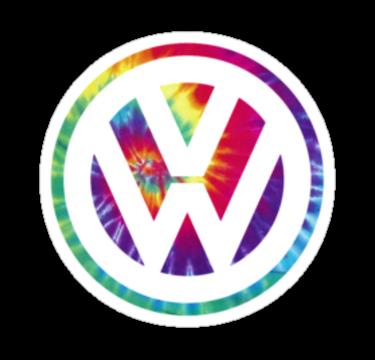 Tie Dye Volkswagen by beeweecee.
